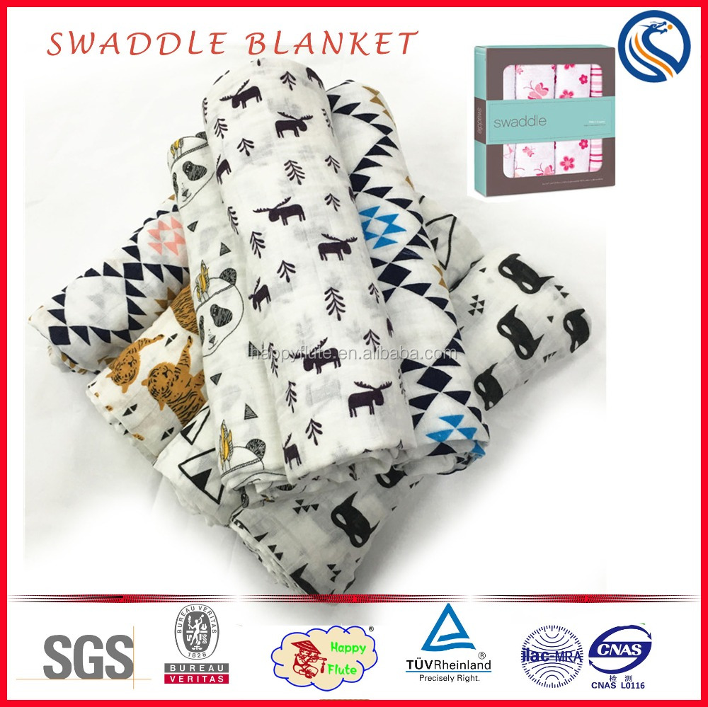 high quality baby muslin organic cotton swaddle blanket