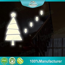 Christmas tree eco friendly glow in the dark wall sticker self adhesive home decor