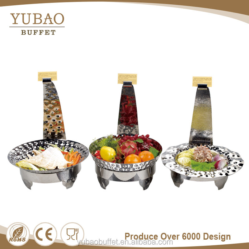 Catering Buffet Equipment Food Serving Dish Display, Banquet Unbreakable Dishes, Deep Decorative Dish Dinner Plates with Rack