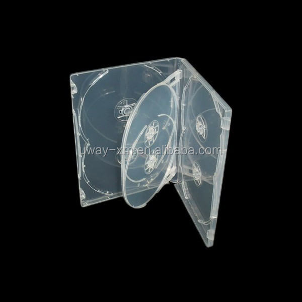 14mm super clear 6 discs dvd case /14mm dvd box for 6 discs