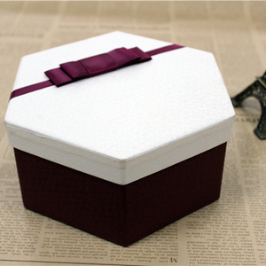 Guangdong factory wholesale hexagon luxury cardboard paper gift box