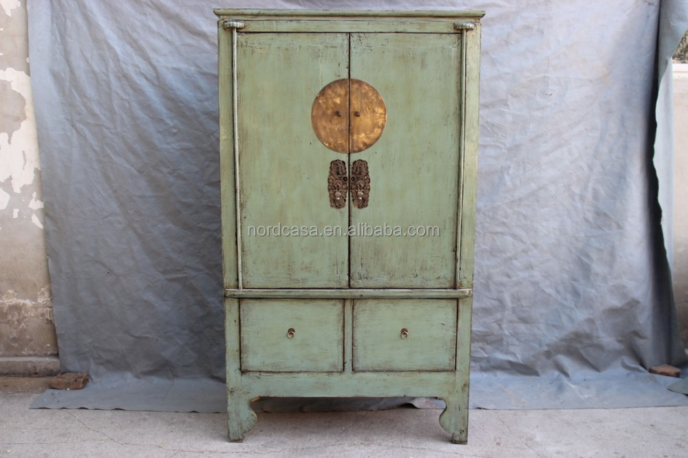 Chinese Bedroom Furniture Antique Red And Green Armoire Buy Chinese Antique Furniture Chinese