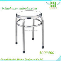 Low cost 201 stainless steel stool laboratory metal stool for sale