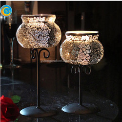 tall mosaic candle holder for wedding decor hotel centerpieces