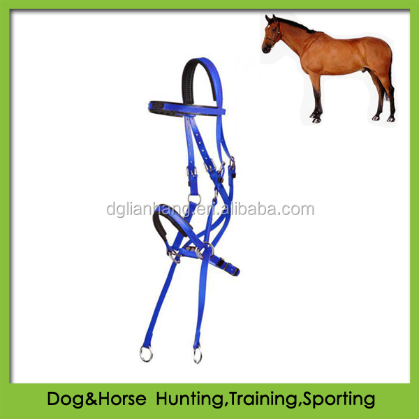 PVC bitless horse bridle used in western horse racing