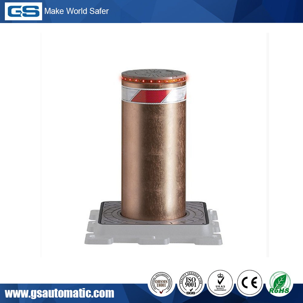 Affordable & Reliable automatic electrical lighted Bollard with CE Certificated