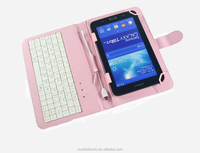 9.7 inch Tablet PC Leather Keyboard Case