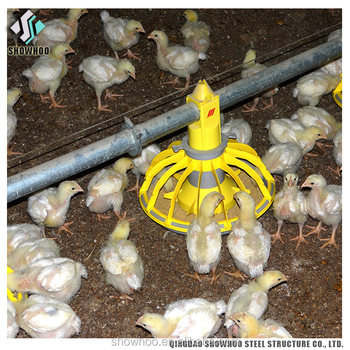 Low Cost Steel Poultry Shed Chicken Poultry Farming