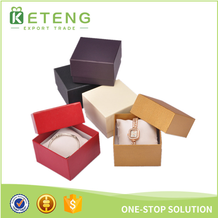 Custom made jewelry cardboard packaging boxes display watch case