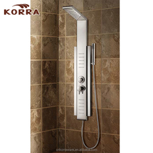 Hotel simple bathroom fittings Stainless Steel Shower Panel ,cheap good quality Shower Column