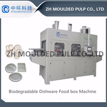Full Automatic Bamboo Fiber Tableware Production Line / Paper food Container Equipment / wood & sugancance pulp food box machine
