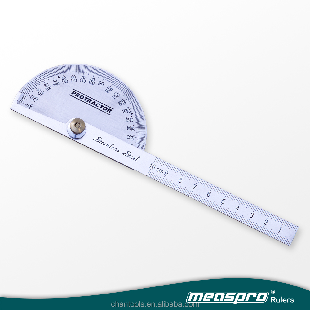 [MEASPRO] Economic Stainless Steel Round Head Rotary Protractor/Angle Ruler