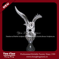 Hand Carved Outdoor Chinese Marble Eagle Sculpture
