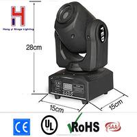 China moving heads 10W LED Spot light Mini Moving Head Light 10W DMX dj 8 gobos effect light