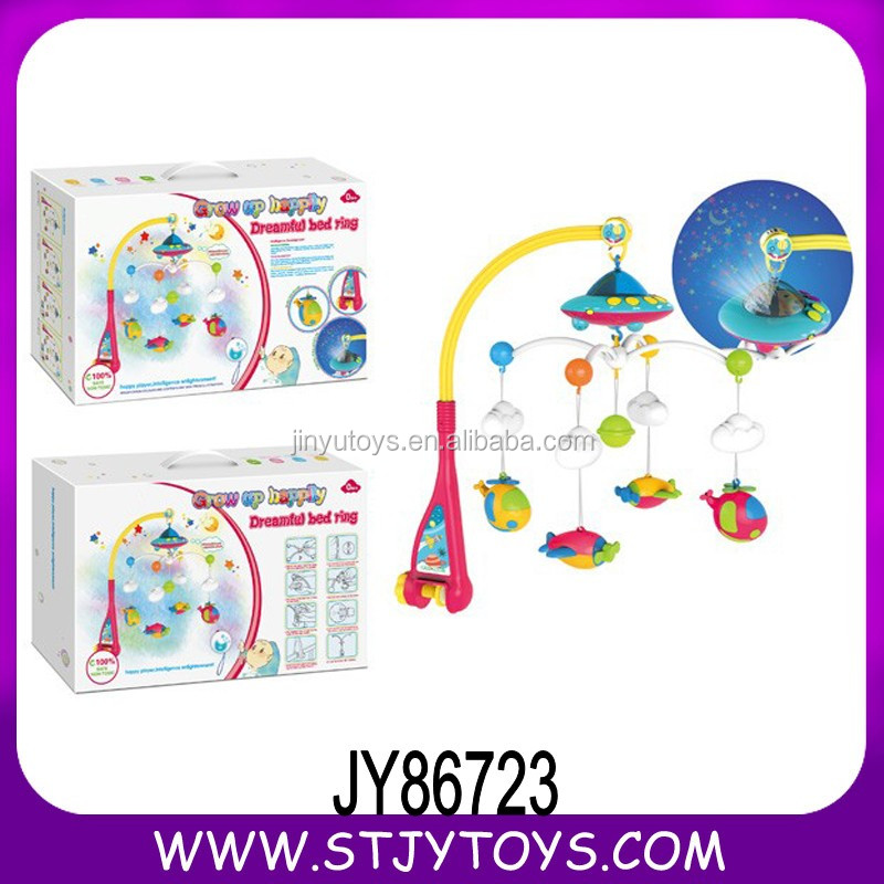 Rc baby mobile crib hanging toy baby bed bell with music and light 108 songs