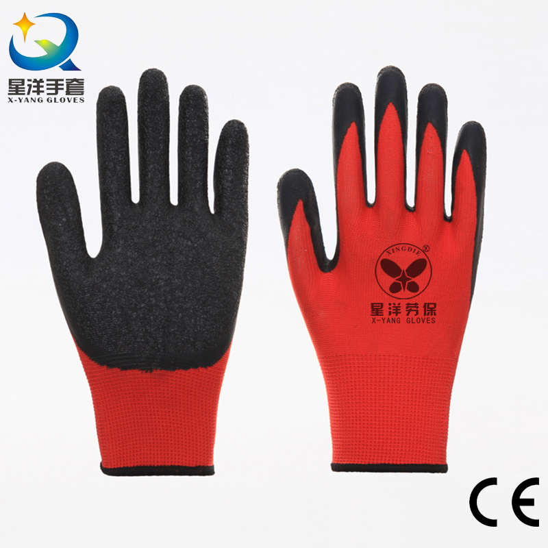 Cheap Price Polyester Shell Latex Labor Protective Gloves