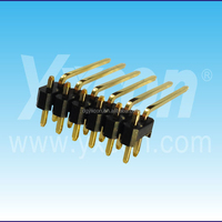 Pitch 2.54mm dual row straight and right angle side insert special pin header connector