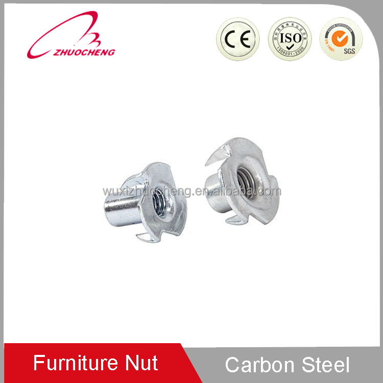 carbon steel DIN 1624 T nut tee nut T-nut with four prongs