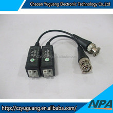 Hot selling 1 channel passive long distance video transceiver/video power balun/BNC connector AP-206L