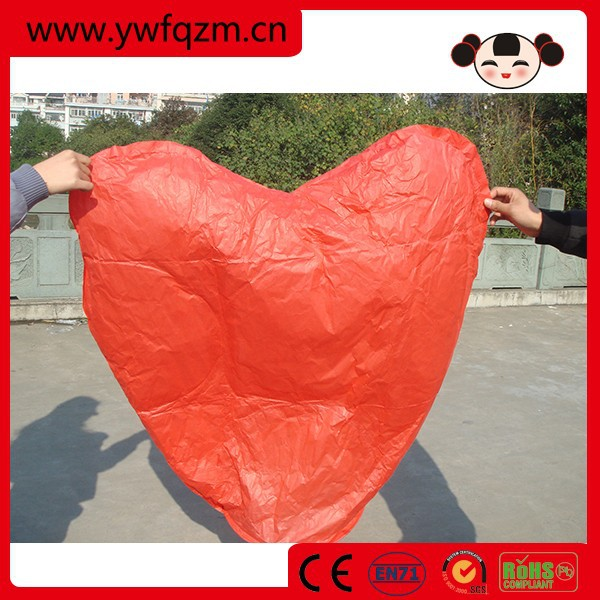 promotional and traditional chinese luminary sky lantern with fireretardant and fireproofed paper