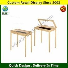 POP customer design wood locking Jewelry showcase table YM15026