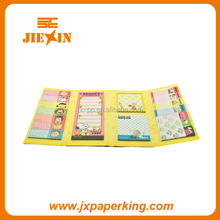 Customized die cut sticky notes set/notes frige magnetic/self-stick notepads