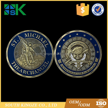 Cheap price St Michael the Archangel Airman enamel token Challenge Coin