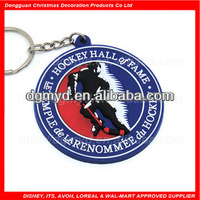 Custom rubber key chain for Hockey items (MYD-CH1009)