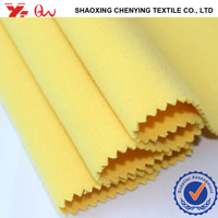shaoxing fabric supplier TR brushed fabric for yellow wool fabric
