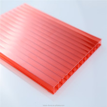 3 wall w-structure polycarbonate U-lock hollow sheets for roofing panel
