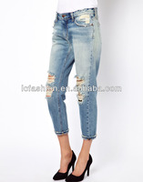 New Arrival Cutout Pocket Dongguan Jeans For Lady design