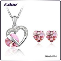 Free Shipping Double Heart Lovers Crystal