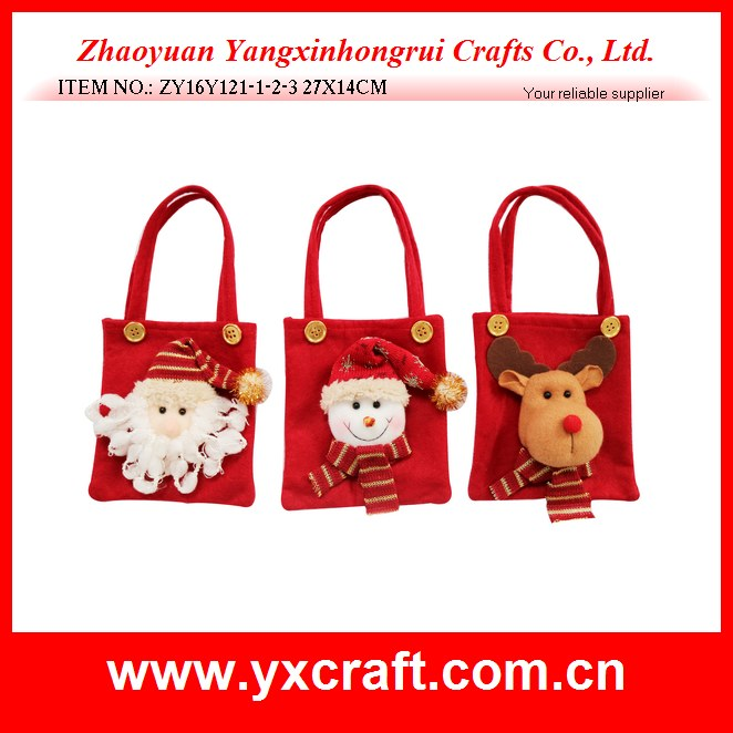 Christmas decoration (ZY16Y121-1-2-3 27X14CM) christmas bag craft, christmas school bag decoration, christmas useful bag