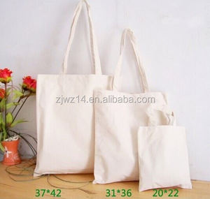 eco recyclable natural plain white cotton canvas tote bag