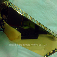 24kt Gold Back Housing for iphone 5s , Luxury Side Diamond housing for iphone