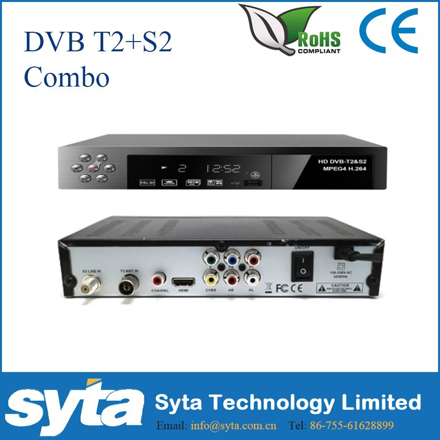 Decoder HD Digital Satellite Dual Tuner DVB-S2 T2 Combo TV Receiver