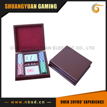 100pcs Poker Chip Set With Wooden Case