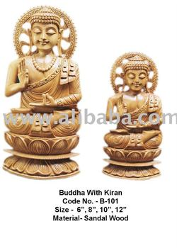 Buddha Statue made with indian sandalwood