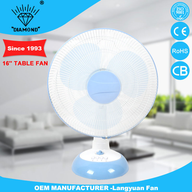 fashionable 16 inch cheep push button switch for table fan with low noise