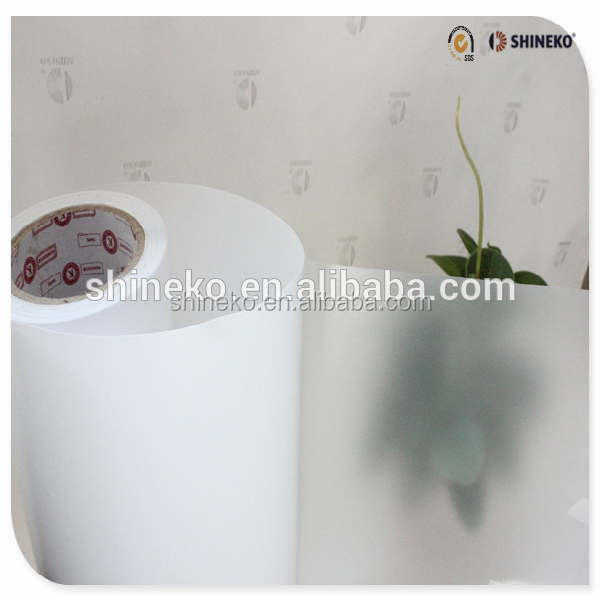 Hot sale matt transpaprent pvc film window screen sticker paper roll or sheet