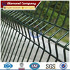High security green pvc coated welded wire mesh/metal fencing
