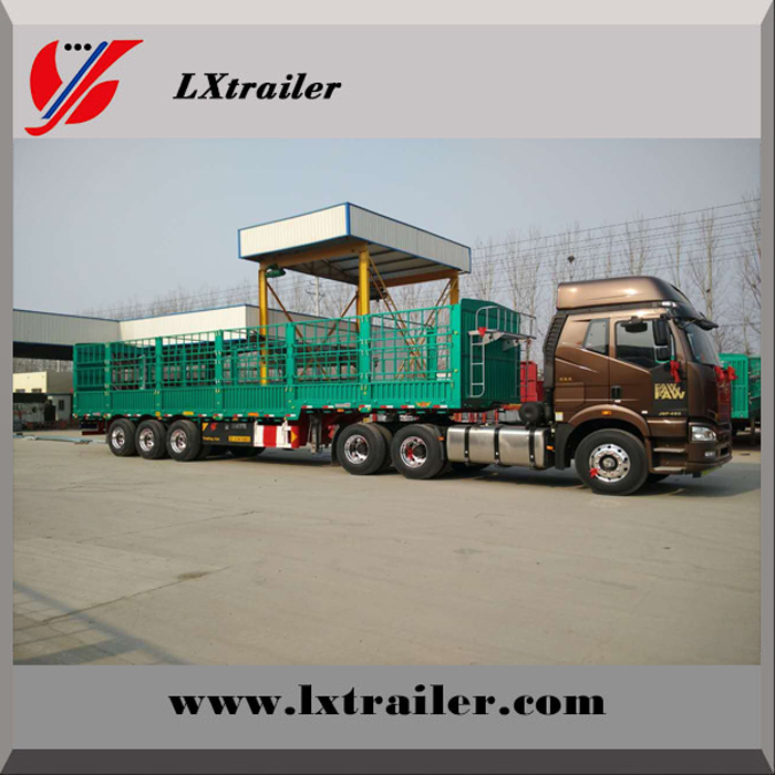 China 3 axle new steel grid commercial vehicle
