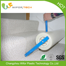 Surface Protection Temporary Self Adhesive PE Protective Plastic Film For Carpets