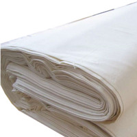White 100% Cotton Plain Dyed Fabric For Bed Sheets