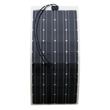 100w mono solar panel 12v 18v semi flexible mono pv solar panel