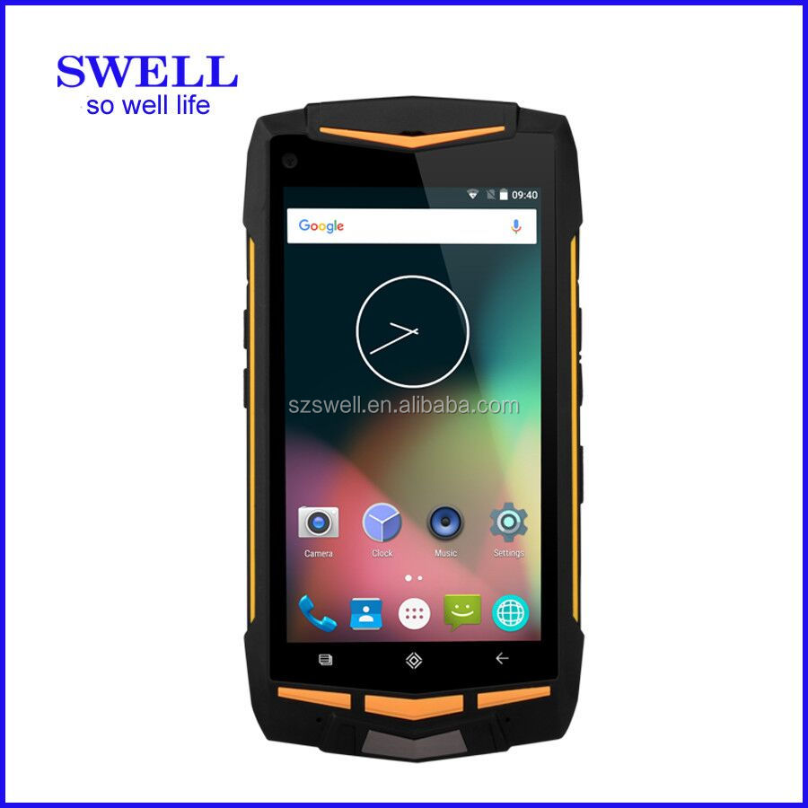V1 rugged smartphone Octa core 1.7GHz Gorilla glass 4G android 5.1 AT & T cell phones push to talk java portable data terminal