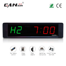 [Ganxin]1'' High Quality Led Fitness Indoor Race Clock Timer with Stopwatch Function