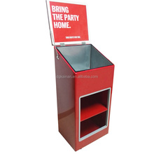 Customized high quality beer storage cabinet/sheet metal iron cabinet/food display iron cabinet