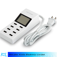 Multi USB Charger 8 port mobile phone charging station, convenient cell phone USB charger