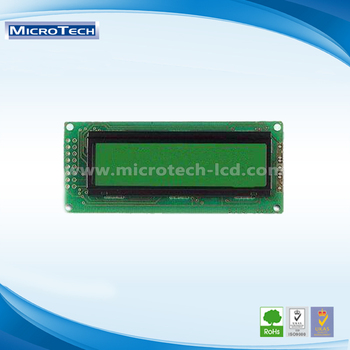 Alphanumeric 16-character x 2-lines LCD Module with 1/16 Duty Ratio